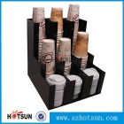 China Black Acrylic Coffee Cup Dispensers and Lid Holders,Display Racks Supplier Coffee Mug Holder factory