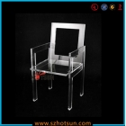China Cheap transparent acrylic ghost dining chair factory