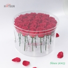 China China Factory Good Quality 25PCS Clear Rounded Acrylic Flower Box with Cover Lid Acrylic Rose Box Acrylic Storage Box for Flowers factory