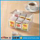 Chine Clear acrylic tea bag storage box with 6 compartments usine