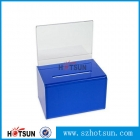 中国Colorful plastic ballot box plexiglass donation box acrylic suggestion box工場