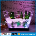 China Cusotmize bar accessory led ice bucket acrylic ice bucket wine cooler plexiglass chilly bin beer ice bucket factory