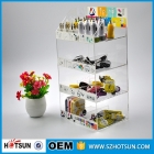 China Customed 4 tiers clear acrylic Cell phone accessory display china factory