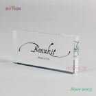 China Customize High Quality Clear Acrylic Logo Block with Silk screen Logo Printing MDF Brand Logo Block factory