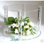Chine Customized high quality assembled acrylic/plexiglass cake display stand usine