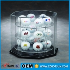 La fábrica de China Deft design acrylic golf ball display for 18 balls