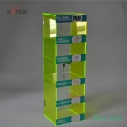 China Green Color 5 Tiers Acrylic Cell Phone Accessory Display Stand factory