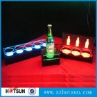 China HSW0619 1 bottle 5 bottles LED acrylic liqueur holder lighting acrylic wine display stand factory