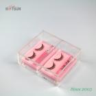 Chine Poubelle acrylique de haute qualité à 2 compartiments pour rangement Petites boîtes de conditionnement en plastique transparent faites main pour couvercle usine