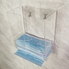 China Hot Sell Wall Mounted Clear Plexiglass Disposable Mask Display Rack Acrylic Mask Dispenser factory
