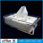 China Hotsun high quality acrylic tissue box, tissue paper box factory