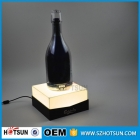 China LED single acrylic wine bottle holder with sign factory