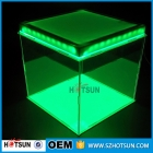 La fábrica de China Latest design clear cube acrylic top led display box
