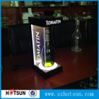 Кита Led lighting acrylic wine bottle display holder manufacturing завод
