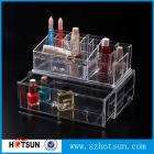 China Multifunctional JY 2186 clear plastic cosmetic storage box counter top makeup organizer factory