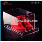 China New products Acrylic Shoe Box for Sale, Clear Shoe Box,plastic storage box factory