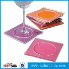 China OEM factory custom clear acrylic coasters wholesale factory