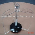 中国Restaurant Hotel Bar revolve table stand acrylic menu holder工場