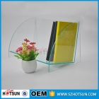 China Transparency green colored acrylic book display stand for desk organizer factory