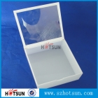 China White Acrylic Box with Lid factory