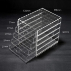 중국 Wholesale 5 layer plastic drawer storage box 공장