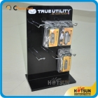 China acrylic cell phone accessory display with hooks factory