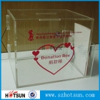 China acrylic donation money box with lock and key factory