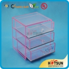 China acrylic makeup organizer with three Drawers factory