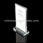 中国acrylic table menu stand /acylic menu holder工場