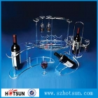 China acrylic wine rack, acrylic wine display holder factory