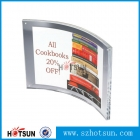 China creative acrylic curved photo frame perspex curved photo frame factory