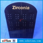 China hot bending perspex black earring display with customized logo factory