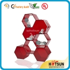La fábrica de China latest technology acrylic shoe store display racks made of 7 hexagons