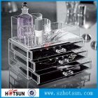 China new design clear cosmetic acrylic makeup display factory