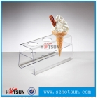 China plexiglass acrylic ice cream cone display holder factory