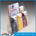 中国professional design plastic clear acrylic brochure holders stand工場