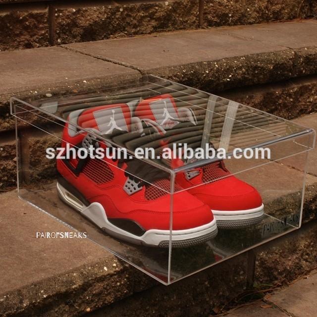 2015 Shoe Box Manufacturer Mini Shoe Box Acrylic Shoe