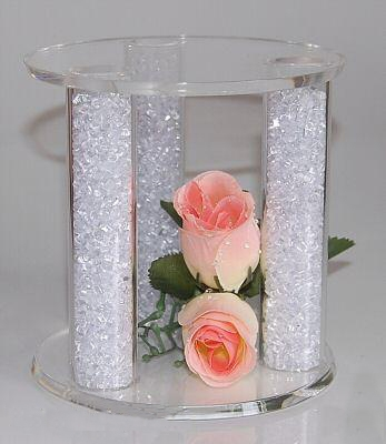 Crystal Filled Cake Separator Topper Stand