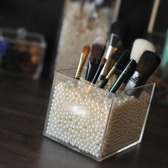 acrylic brush holder makeup organizer beauty organizer. Black Bedroom Furniture Sets. Home Design Ideas