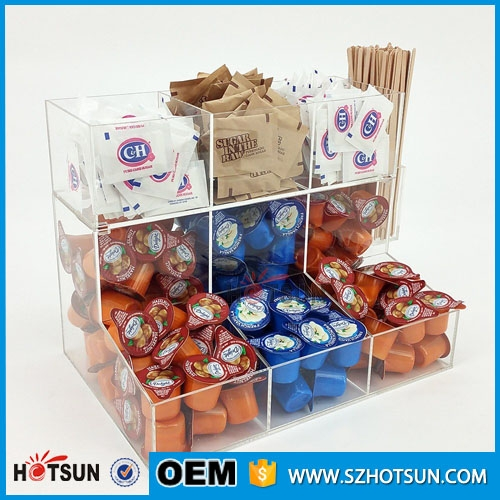 Acrylic Paper Cup Dispenser Coffee Pack Bag Holder Display