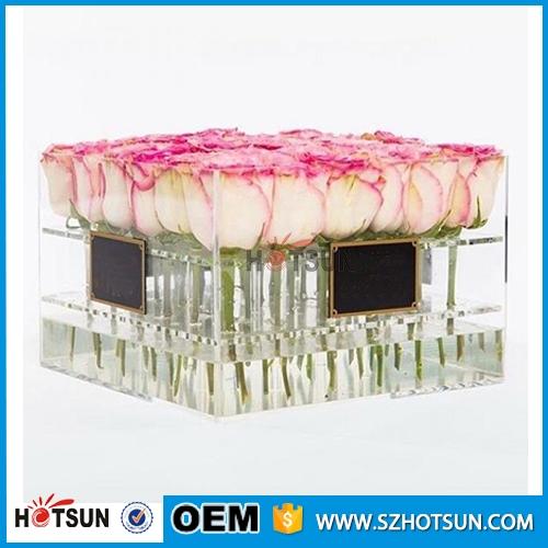 China Supplier Clear Plexiglass Flower Box Acrylic Rose
