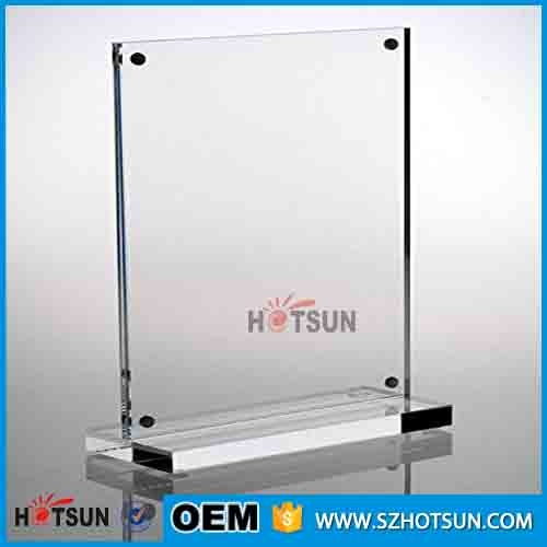 Custom Table Menu Stand Acrylic Magnetic Sign Holder For Restaurant - Restaurant table sign holders