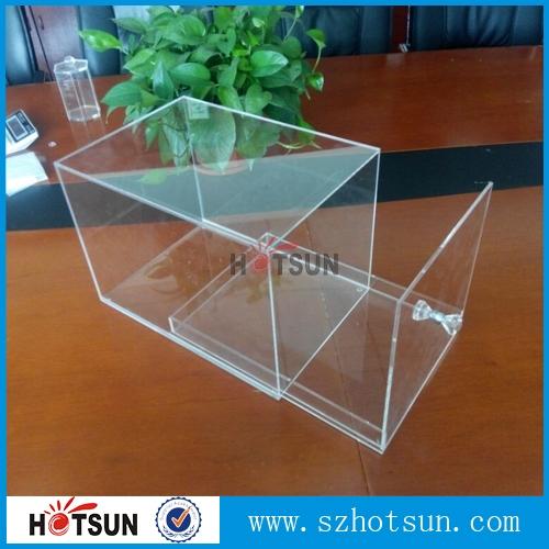 Custom Clear Acrylic Shoe Box With Drawer Plexiglass Shoe Box
