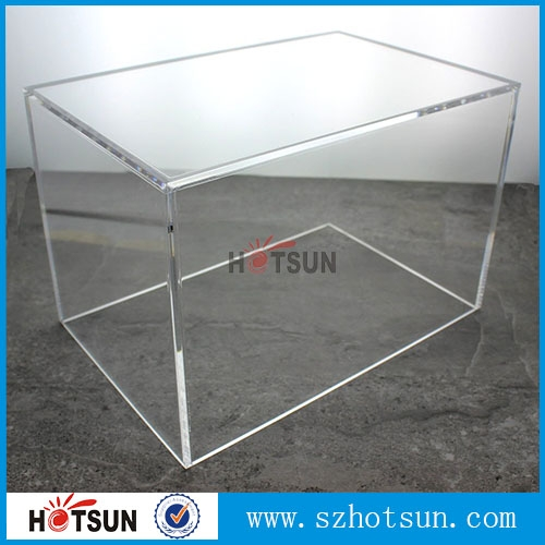 Customized large acrylic 5 sided box from china supplier