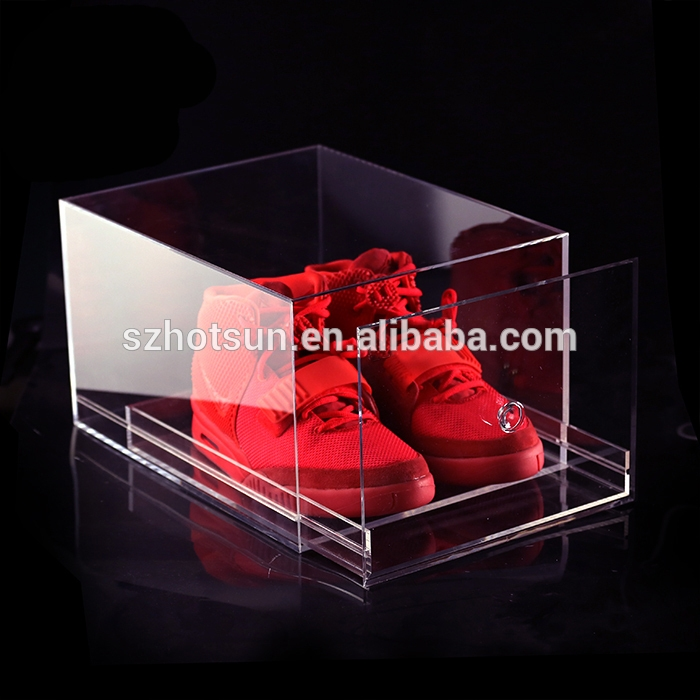 High Quality Showcase Clear Acrylic Shoe Box Acrylic Shoe