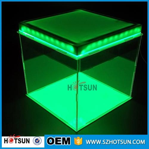 Acrylic Box With Led : Latest design clear cube acrylic top led display box