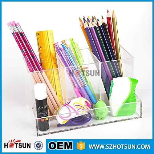 New design clear acrylic office desk organizer - Acrylic desk organizer ...