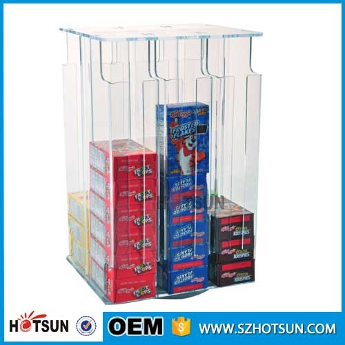 Rotating acrylic cereal box organizer for Cereal box organizer