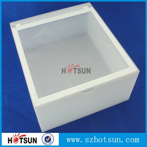 Acrylic box with led : White acrylic box with lid wholesale supplier