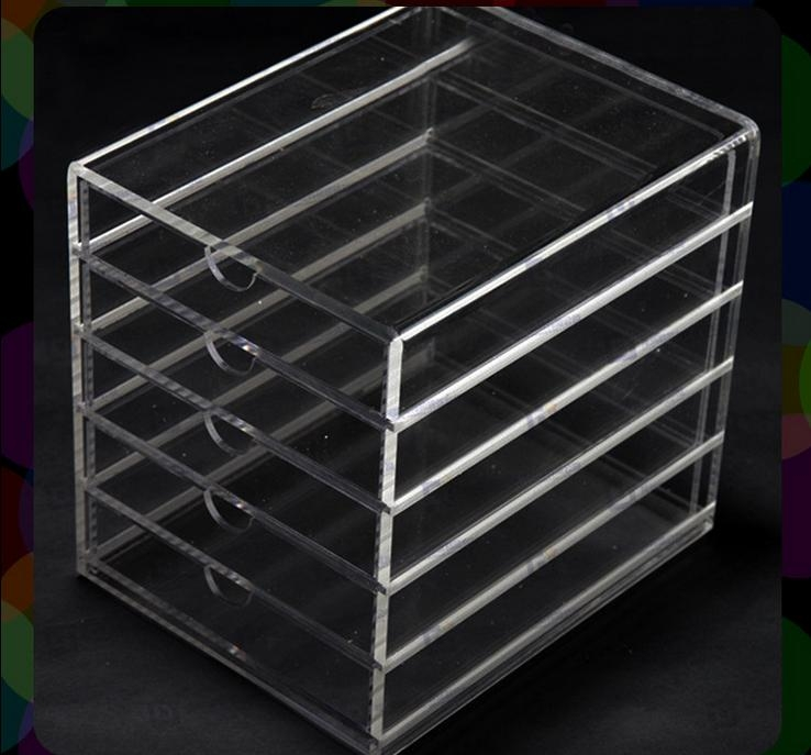 Wholesale 5 layer plastic drawer storage box 아크릴 제품,LED